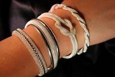 Silver Wrist Bracelet Arm Bangle 4 Styles Elegant Gift