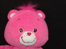 2004 PLAY ALONG SECRET HEART LOCK PLUSH CARE BEAR PINK STUFFED ANIMAL TOY FRIEND