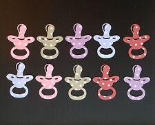 Maniquí de bebé/Chupete dado corta-conjuntos de 10 en varios estilos, elaboración de Tarjetas Etc.