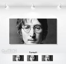 John Lennon - 5 - Quadro stampa su Tela Pelle Canvas Dipinto Arte Moderna