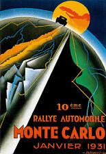 Art Poster Monte Carlo Rally  1931 France  Car Deco Print