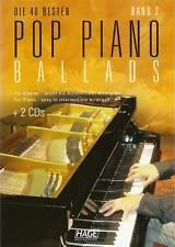 Klavier Noten -  POP PIANO BALLADS 2  - inkl. 2 CDs  -