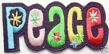 Écusson patch hippie flower power peace paix