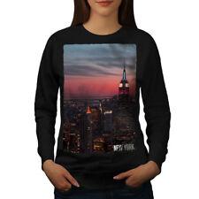 Empire State Building Donne Felpa Nuova   wellcoda
