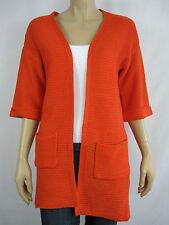 Crossroads Ladies 3/4 Sleeve Oversized Cardigan sizes 8 10 Colour Red Orange