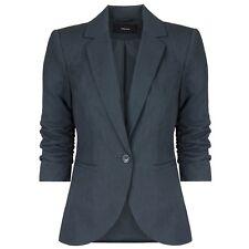 VERO MODA Damen Blazer Jacket Damenjacke Reverskragen 3/4-Ärmel Raffung