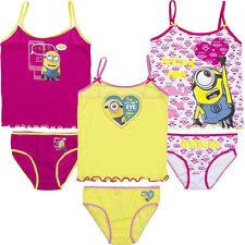 Neu Unterwäsche 2tlg. Set Mädchen Hemd Slip Minions 92-98 104-110 116-122 #86
