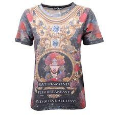C4478 t-shirt donna SWEET MATILDA multicolore t-shirt woman
