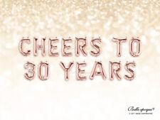 CIN CIN A 30 anni Compleanno 21 16 18 Età Personalizzati Rosa Oro Palloncini Banner Argento
