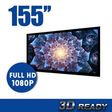 "155"" TV Cinema HD Projector Screen Flat Fixed Frame 16:9 screen size 157 x 277cm"