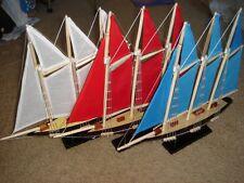 """ATLANTIC HAND MADE WOODEN MODEL SAILING SHIP 14"""""""