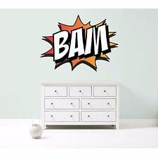 Bam Superhéroe Comic Book palabra Retro Color Pared Arte Pegatina Calcomanía