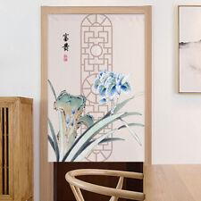 Chinoiserie Noren Door Curtain Cotton Linen Hanging Drape Room Divider Home Deco