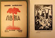 Matricardi Sabbia 1932 1a ed. xilografie di Salandri