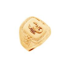 NEU Herrenring Siegelring mit Sternzeichen aus 333er Gelbgold