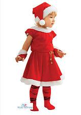 BABY GIRL on SANTA vestito con cappello natale RED Fancy Outfit costume 3 - 10 anni