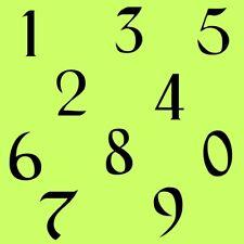 4 cm Zahlen Aufkleber Klebezahlen Ziffern Sticker 1 bis 200 Stück Schwarz SA-20