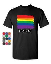Gay Pride T-Shirt Rainbow Flag LGBT Marriage Love Wins Mens Tee Shirt
