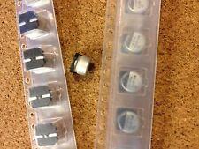 Montaje en superficie 56μF 10V Condensador electrolítico de aluminio, ± 20%, cantidad de múltiples