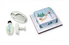 PME pupazzo di neve Natale Plastica Glassa Ritaglio STANTUFFO Cutter Sugarcraft Torta Strumento