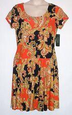 NEW w/ TAG! LAUREN RALPH LAUREN Women's Paisley Dress Sizes S M L XL MSRP $150