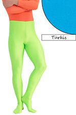 Herren Leggings mit Fuss türkis Voltigierhose Glanz elastisch Größen S - XXL