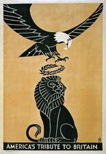 84067 Vintage America Tribute To Britain World Decor WALL PRINT POSTER CA
