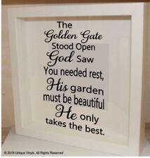 Il GOLDEN GATE era aperta, Dio ha visto-Memorial preventivo-Adesivo Vinile/Cornice IKEA