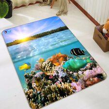 3D Coral Ocean Sky 46 Non Slip Rug Mat Room Mat Quality Elegant Photo Carpet CA
