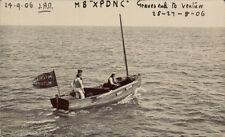 "Gravesend to Ventnor Boat Trip. MB "" XPDNC "". Flag of Mitcham Motors."