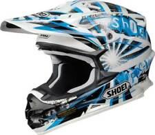 Shoei VFX-W disidencia Blanco Azul Mx Motocross Casco Liquidación