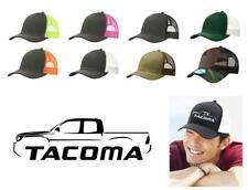Toyota Tacoma Pickup Truck Color Outline Design Trucker Hat Cap