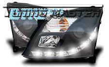 Fari Anteriori Dayline DRL LED Luci Diurne Opel Vectra C 02-05 Neri