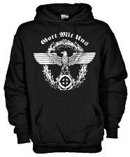 Felpa History hoodie KE05 Gott mit uns Dio è con noi Motto dell'Ordine Teutonico
