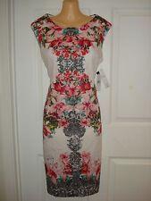 Sandra Daren Wear to Work Floral Print Shift Dress Sz 6P, 8P,10P,12P
