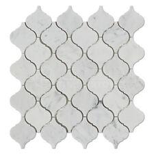 Carrara White Italian (Bianco Carrara) Marble Lantern Mosaic Tile