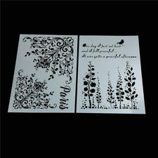 alphabet bird layering stencils for wall painting scrapbooking stamp albumdecor@
