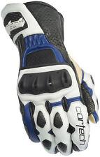 Cortech Latigo RR Leather Street Bike Sport Motorcycle Gloves-See Sizes-Blue