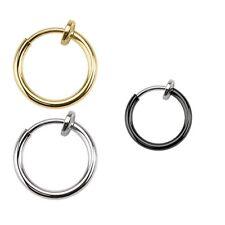 Fake Clip On Spring Nose Hoop Ring Ear Septum Lip Eyebrow Earring Piercing