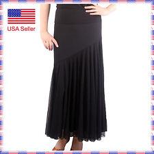 STS2438bk New Women Ballroom Latin Smooth Tango Flamenco Country Dance Skirt