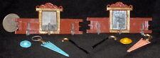 ONE Hall Mirror Rack Cane Umbrella New Pour Antique Stone Mold #MP826 Miniature