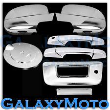 07-12 GMC Sierra Chrome Mirror+2 Door Handle+Tailgate w KeyH no CaM+GAS Cover