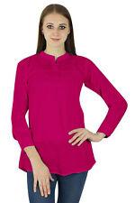 Pink Sundress Women Boho Top Wear Clothing Cotton Dress Casual Tunic Summer