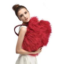 2017  luxury winter warm lamb fur/mongolian fur beach wool fur bag
