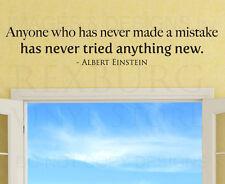 Wall Sticker Decal Quote Vinyl Art Lettering Albert Einstein Inspirational J61