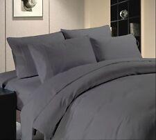 Au-Bed- 5Pcs Duvet Sheet Set-Collection-1000-TC-Egyptian Cotton E gray Solid