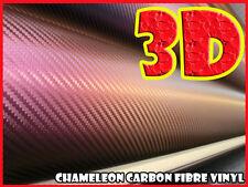 Chameleon Giallo 0,3 M X 1.52 M 3D in fibra di CARBONIO Pellicola Vinile Avvolgere Adesivo Pellicola
