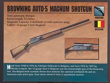 BROWNING AUTO-5 MAGNUM SHOTGUN Belgium Atlas Classic Firearms Gun CARD