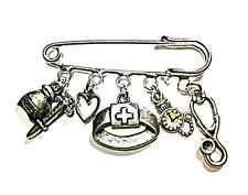 Nurse keyring~Nurse brooch~Doctor Graduate kilt pin brooch~Doctor keyring
