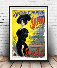 L'opéra comique, vintage théâtre français, affiche reproduction.